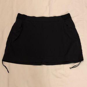 Columbia Blk Skirt Skort Omni-Shield Plus Size 2X